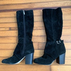 BCBGeneration Knee High Black Suede Boots
